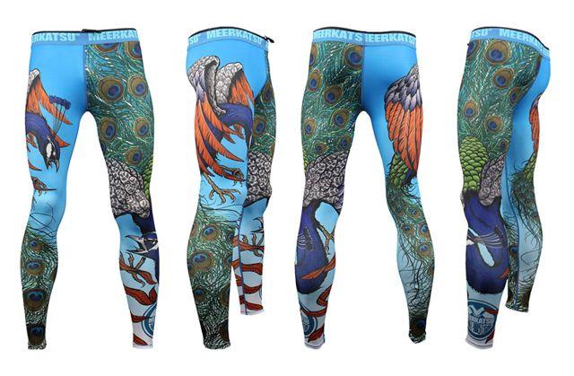 Kittad - Kampsport - Meerkatsu Flying Peacock-tights