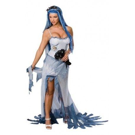 Déguisement Noces Funèbres Corpse Bride femme, idée déguisement Halloween
