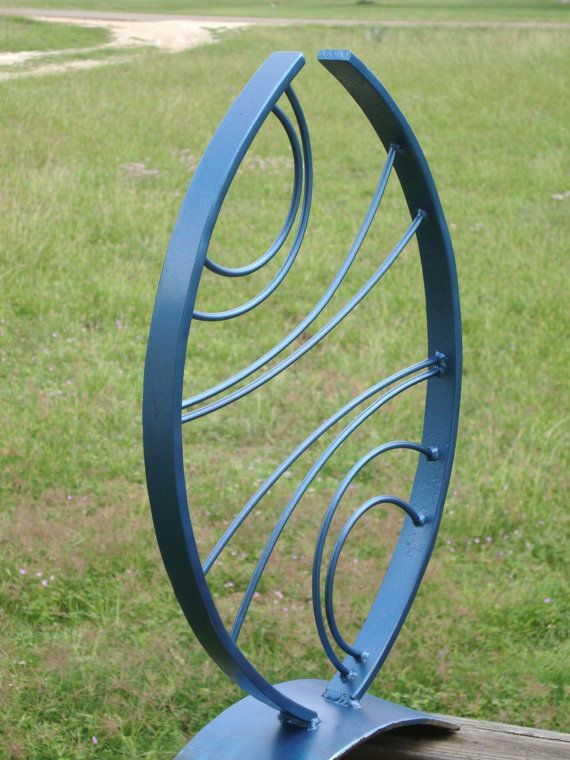 Blue Arches Metal Sculpture By A36metalartstudios On Etsy 100 00 Artists Pinterest Art And