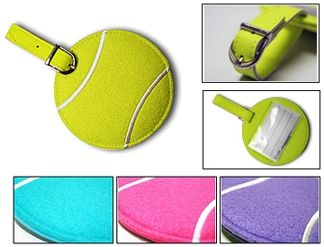 Tennis ball bag tags.