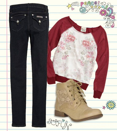 back-to-school outfit for teenage girl