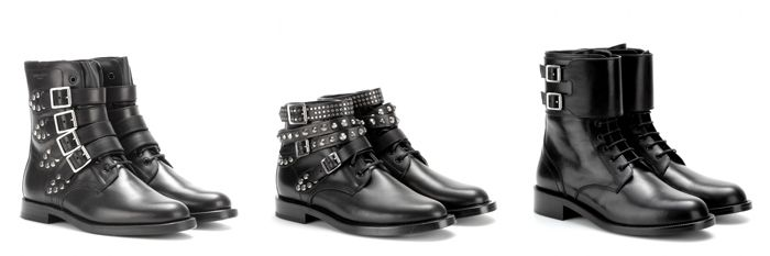 Saint Laurent New 2015 Footwear Collection  #Ankleboots #studs #spikes #Botines moteros con #tachuelas #SaintLaurent