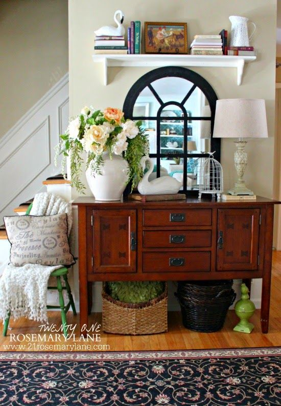 Foyer Table Vignettes : Console table and mirror furniture i heart pinterest