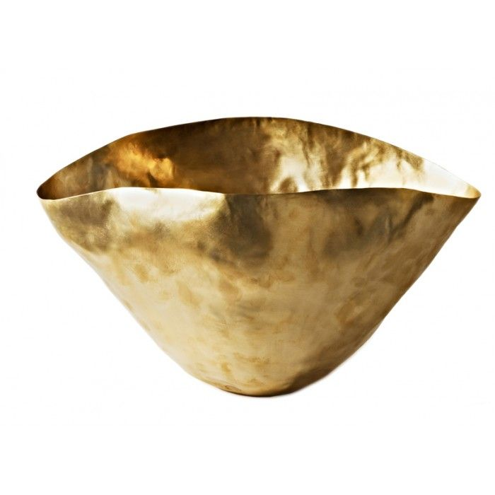 Golden Vessels at the Fireplace: Bash Vessels by Tom Dixon