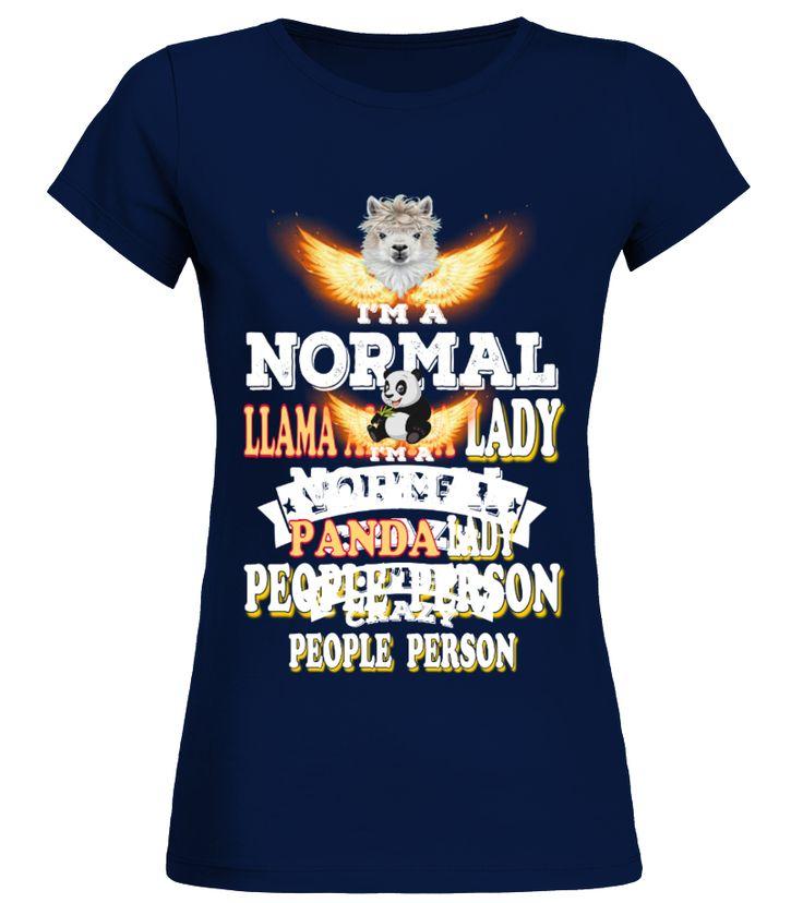 Panda NORMAL Crazy Lady  Funny Panda T-shirt, Best Panda T-shirt