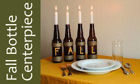 Big City Little Joys: Fall Bottle Centerpiece