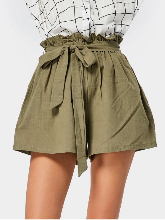 Up to 70% OFF! Smocked High Waist Belted Short.  Zaful, zaful.com, bottoms,shorts,shorts outfits,shorts and tights,shorts outfits women,denim,denim shorts,women shorts,high waisted shorts, jean shorts, boyfriend shorts, dressy shorts, ripped jean shorts, womens khaki shorts, cut off jean shorts, knee length shorts,winter outfits,winter fashion,fall outfits,fall fashion, halloween costumes,halloween,halloween outfits. @zaful Extra 10% OFF Code:ZF2017