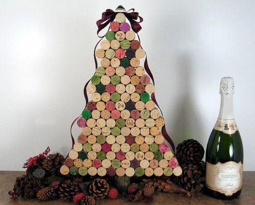 It's wine o'clock (somewhere) …  Which means it's time to share a wine-related repurposing find. Today's item: Wine corks arranged into the shape of a Christmas tree. (This tree's made by 4EyesAndEars on Etsy.) If you've missed some posts in our wine o'clock series, or want to look again at some earlier posts for inspiration to make something of your own, check out the Unconsumption archive here.