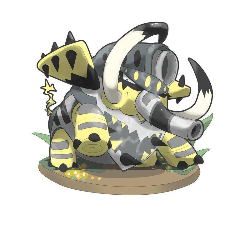 Conozcan a...ELETANK de tipo Eléctrico/Acero... Es la evolución de Phantzord al nivel 37. Eletank es un pokémon muy resistente y fuerte, como su pre-evolución. Este pokémon puede lanzar eléctrocañón a través de su trompa. A demás desarrolla un especie de cañón que se encuentra sobre su cabeza,la cual,en sus costados tienen orificios donde Eletank coloca las púas de acero que posee en las puntas de sus orejas como municiones para atacar y ser disparadas a larga distancia por dicho cañón. Son…