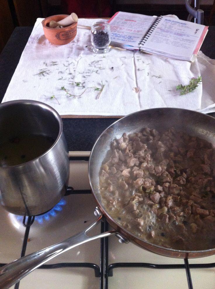 ragù bianco di agnello cottura