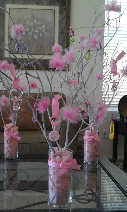 Tree Branch Centerpiece W Baby Toys Amp Pompoms If You Are