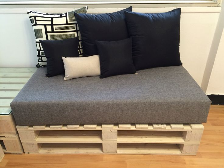 Pallet wood couch.