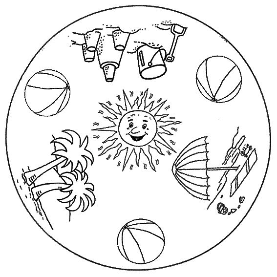 free printable summer mandala coloring 3 mandala