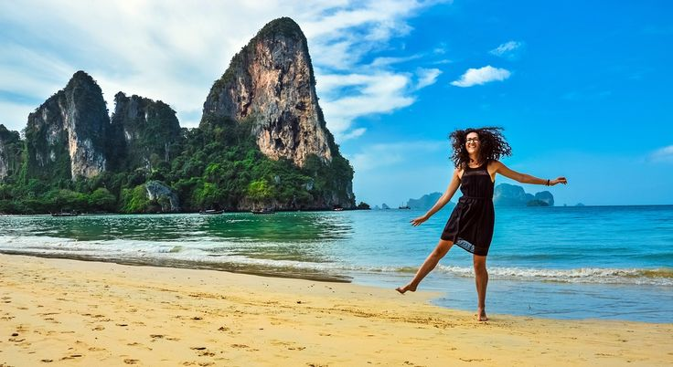 Explore the best of Krabi Town and its gorgeous surrounds, from Instagram-perfect beaches and tiger cave temples to flying fish bays and emerald-colored mineral pools.   #Asia #islands #kayaking #Krabi #Phi Phi Islands #Railay Beach #seaside resorts #Southeast Asia #Thailand