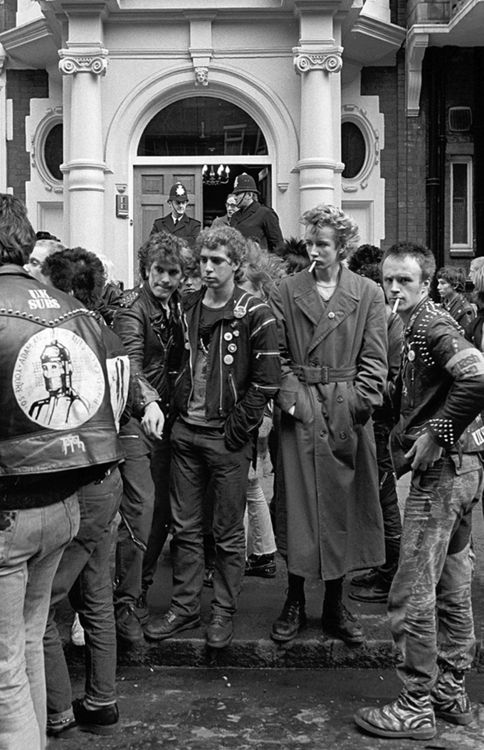 Punks in London 1979 by Janette Beckman (English, started her career photographing the punk scene in England and New York in the 70s and 80s; documentary and  studio portrait photographer)
