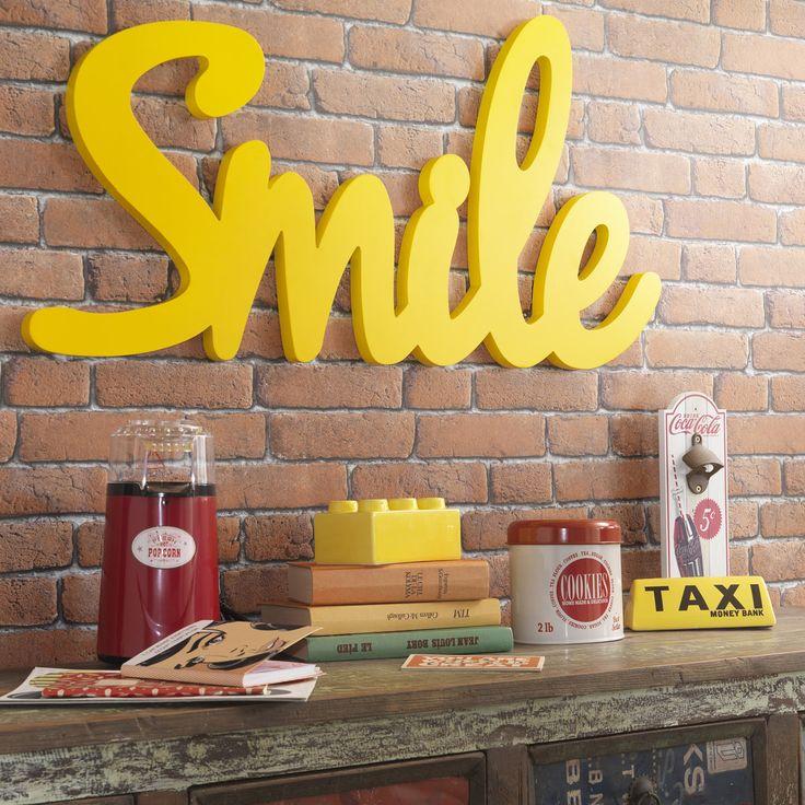 Déco murale en bois jaune | Maisons du Monde
