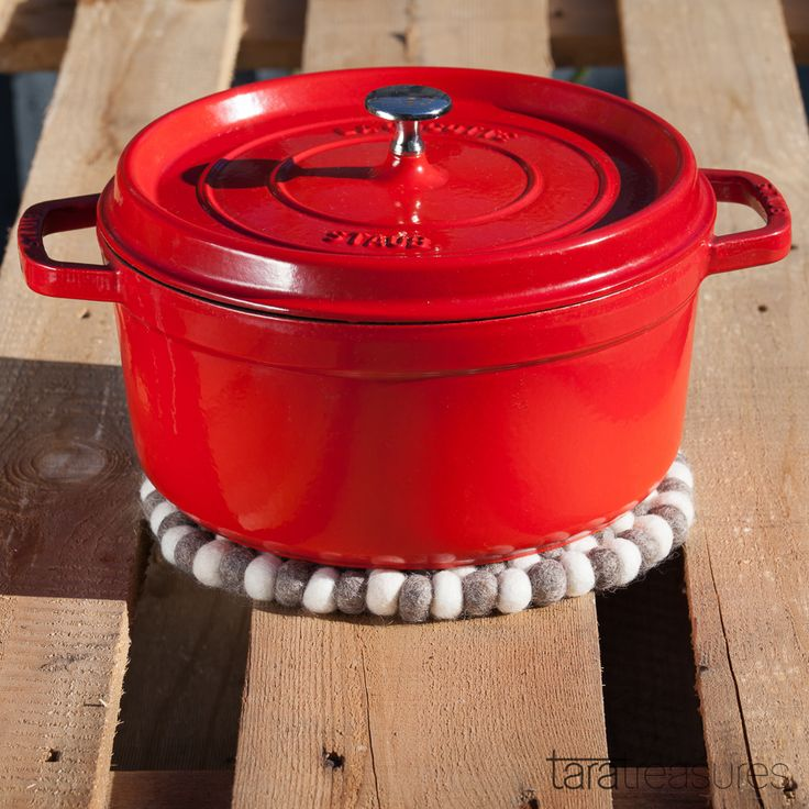 Use this pot trivet as a pretty placemat when transfering the cast iron pot from the cooktop to the tabletop.