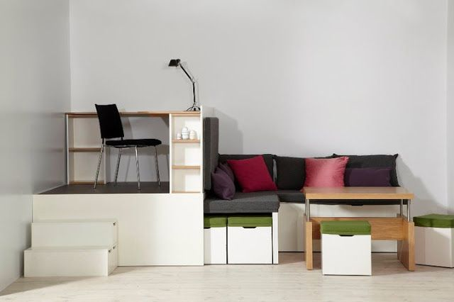 Living in a shoebox | Four rooms in one