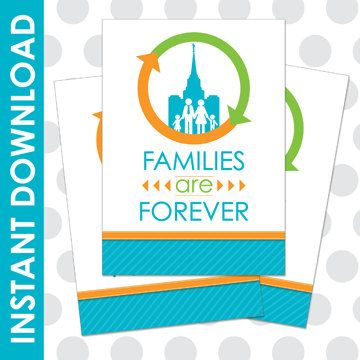 Families Are Forever Printable 2014 LDS Primary Theme Printable. Love the eternal circle around the family. What a cool logo!