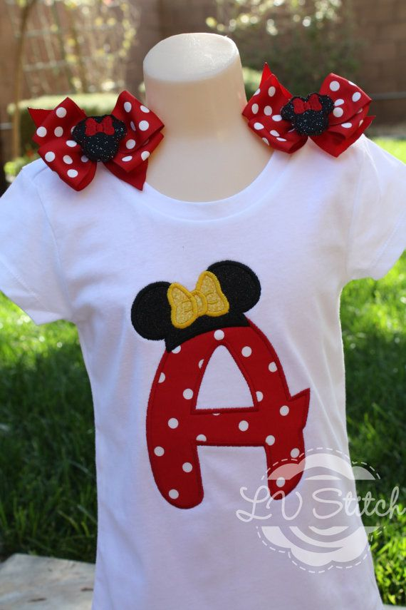 Hey, I found this really awesome Etsy listing at https://www.etsy.com/listing/164519583/mouse-ear-initial-shirt
