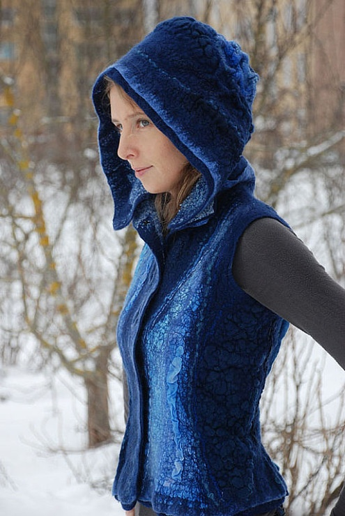Stunning blues, felt hooded jacket   Gallery.ru / Фото #102 - СВЕТЛАНА ВРОНСКАЯ - renew