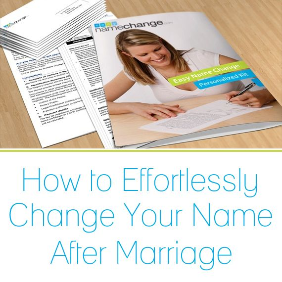 how to change name in canada after marriage