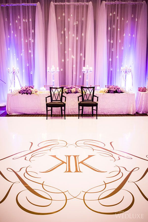Beautiful Photo Of A White And Gold Monogrammed Dance
