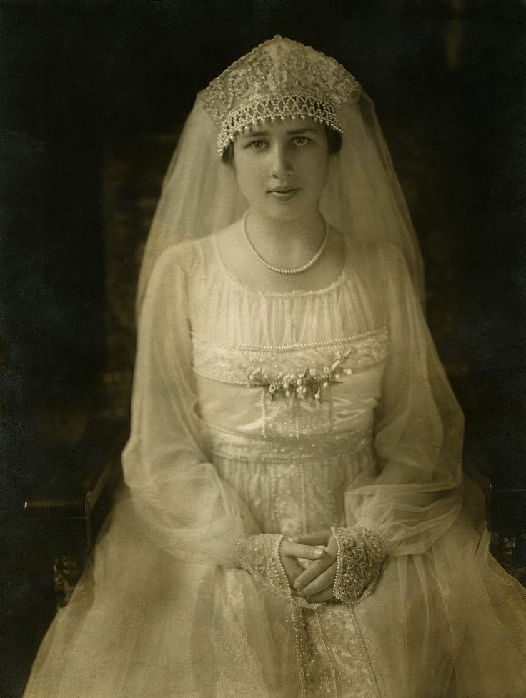 To Walk Down The Aisle Bride 1916 Look At Beaded Cuffs And Crown