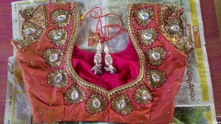 Sequins and Stone Work Blouses   Saree Blouse Patterns