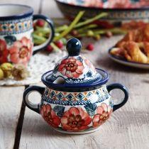 Cukiernica ceramiczna GU-944 DEK. 124 ART Bolesławiec 350 ml