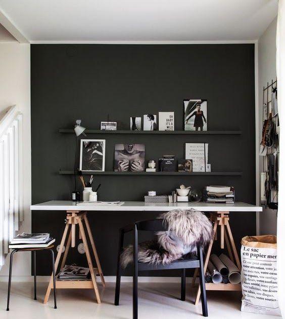 comment am nager un coin bureau dans son salon en 2019. Black Bedroom Furniture Sets. Home Design Ideas