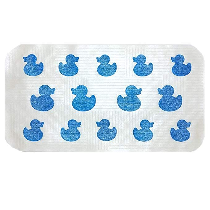 Aprice Non Slip Bathtub Mat Baby Toddler Shower Bath Tub Mat Mildew Resistant Anti Bacterial Kids Blue Duck Review Bath Toys Bathtub Mat Bath Toys Bathtub