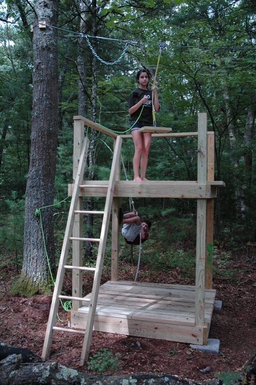25 great ideas about zip line backyard on pinterest