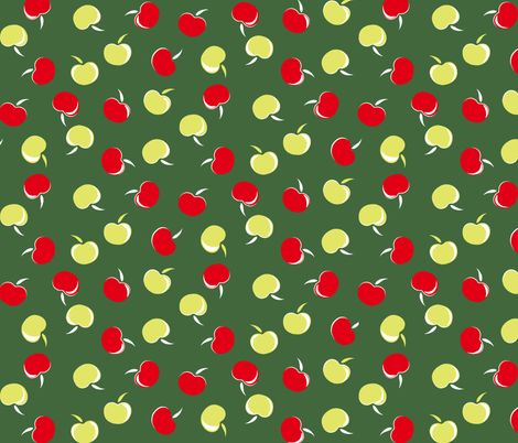 yellow dress ith apples allpaper