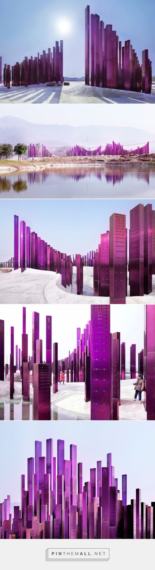 Sound Wave Installation by Penda at Myrtle Tree Garden, Xiangyang – China »  Retail Design Blog - created via http://pinthemall.net