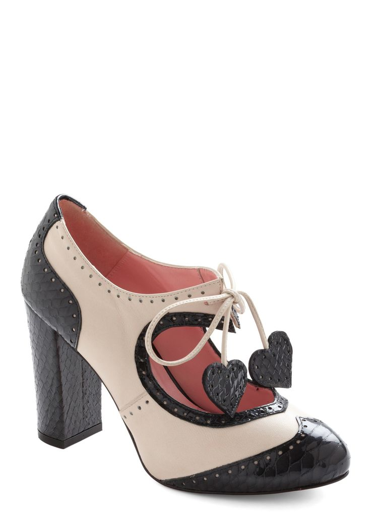 $245 - Heart Work and Dedication Heel by Minna Parikka  Does Modcloth really expect people to spend this much on shoes? I mean, they're adorable, but still!