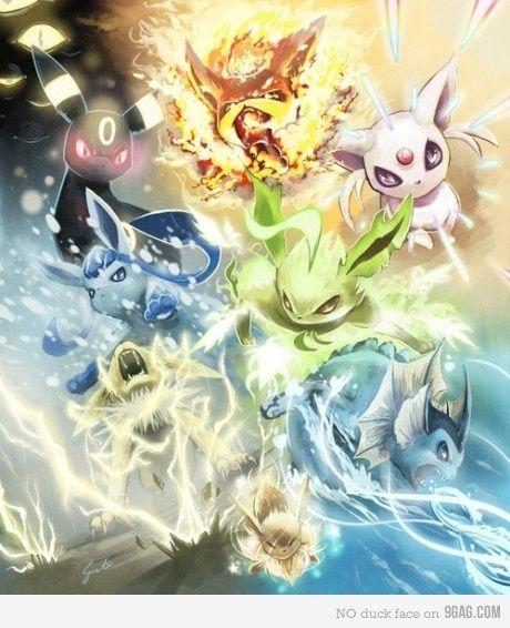 My Eevee Evolutions. Mine!!!