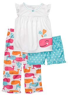 Carter's® 3-Piece Whale Pajama Set Toddler Girls