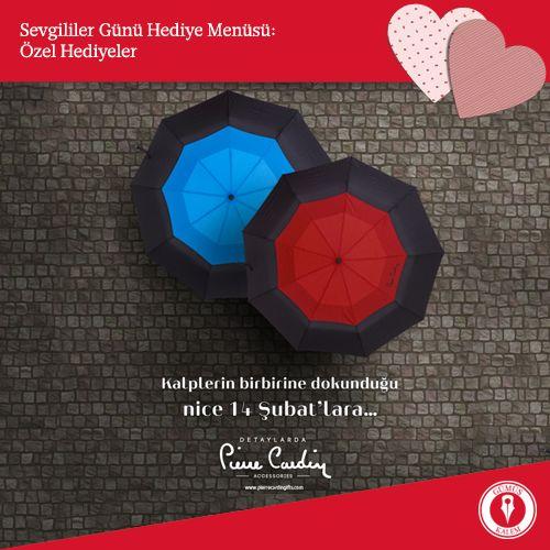 Yağmur altında uzun uzun yapacağınız romantik yürüyüşlere hiç ara vermeyin diye… Birlikte geçireceğiniz nice güzel mevsimler için özel bir hediye: Pierre Cardin şemsiye. www.gumuskalem.com.tr