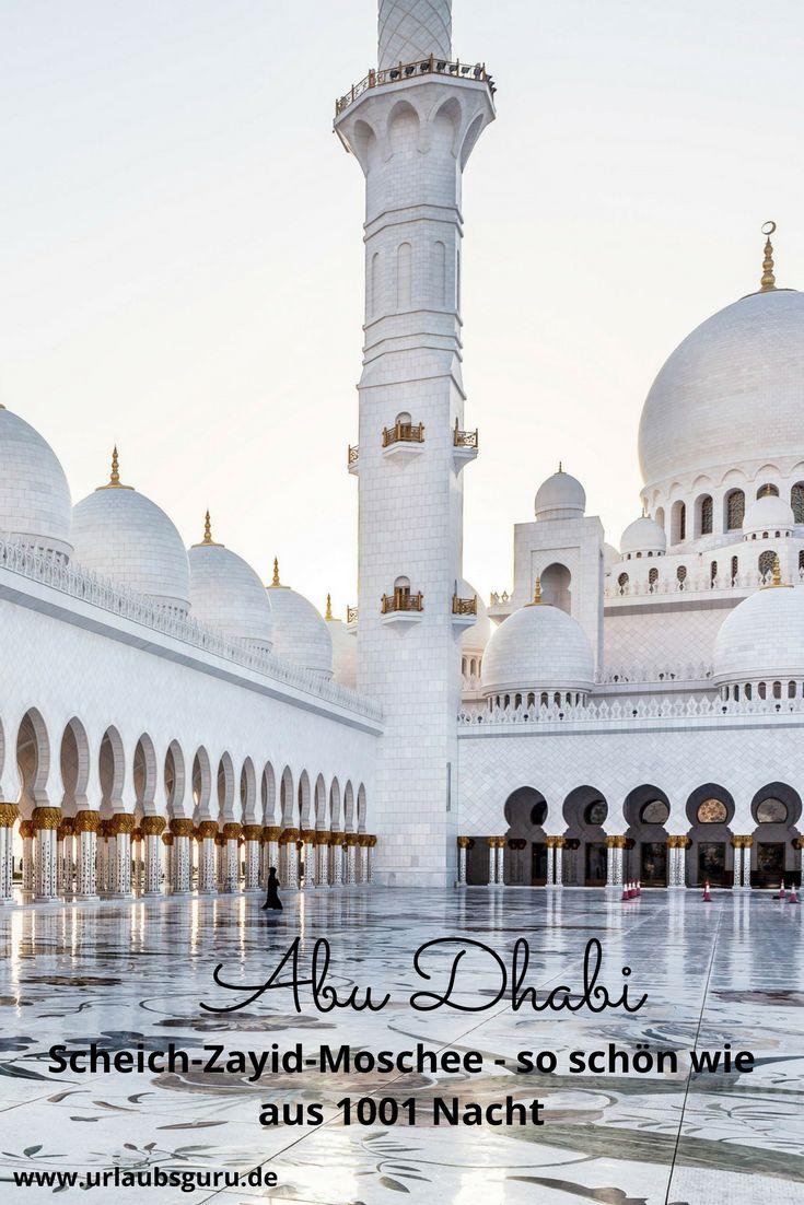 Wenn euch die Luxushotels und Shoppingmalls der Emirate und Abi Dhabi ins Staunen versetzen, wird euch die Scheich-Zayid-Moschee garantiert den Atem rauben!