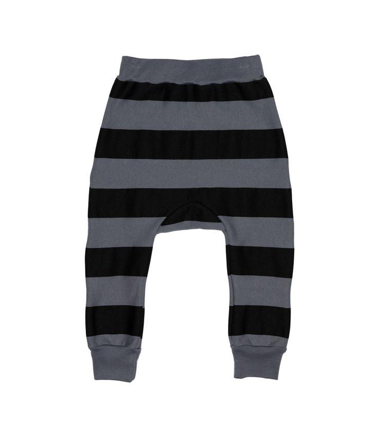 Davenport Pants - Grey & Black Stripe
