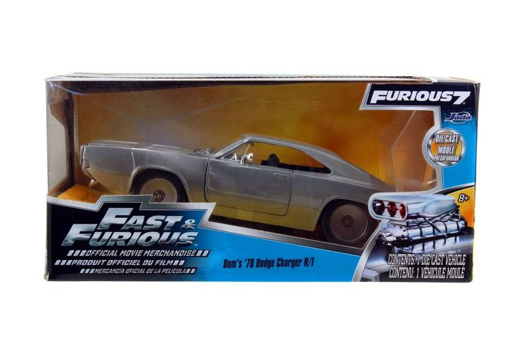 Jada 1/24 Scale Fast & Furious 1970 Dodge Charger R/T Bare Metal Diecast Car Model 97336