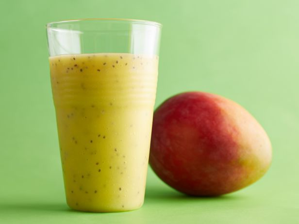 Mango, Coconut and Chia Smoothie: This tropical-inspired smoothie is loaded with vitamin C and also delivers a fair amount of potassium. Chia seeds are packed with fiber and omega-3 fatty acids, and they add a texture that makes this smoothie reminiscent of bubble tea.