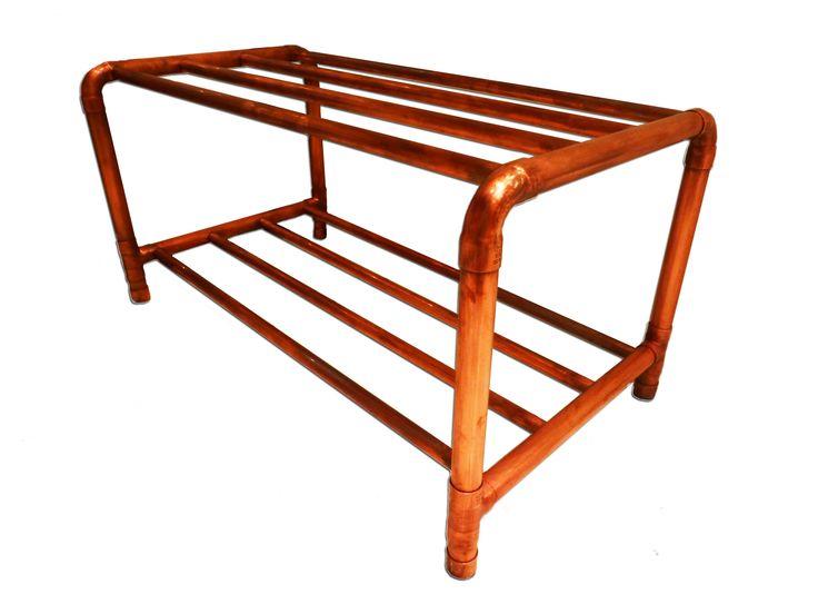 Skoställ i koppar - Shoe rack in copper