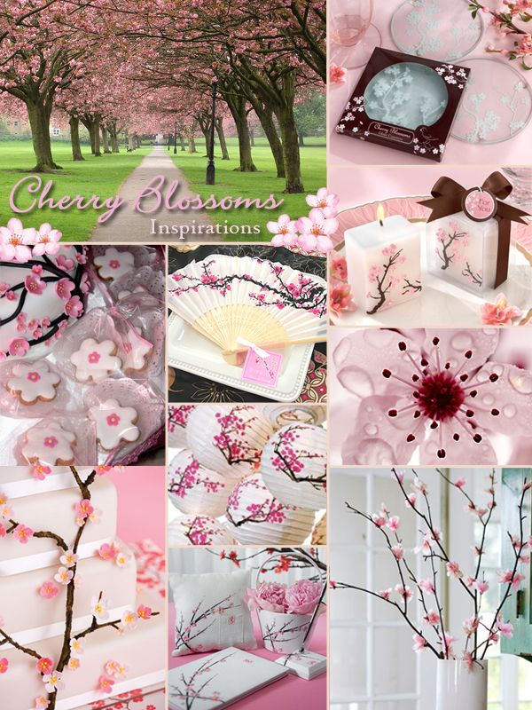 Cherry Blossom Wedding Inspiration Board