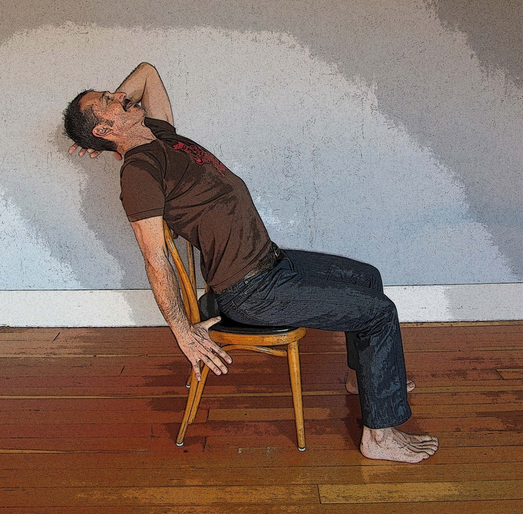 62 best chair yoga images on pinterest exercises