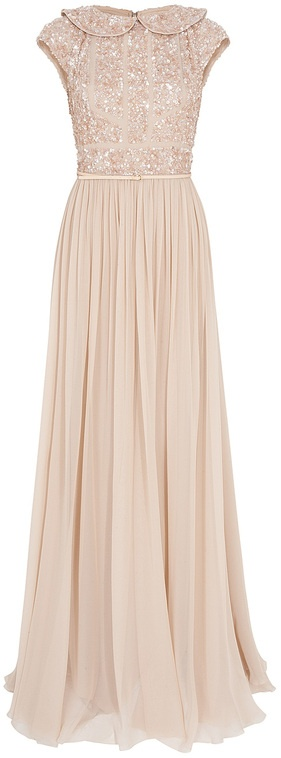 Elie Saab Beaded Top Silk Gown - Beautiful. OH MY LORD. I just died.
