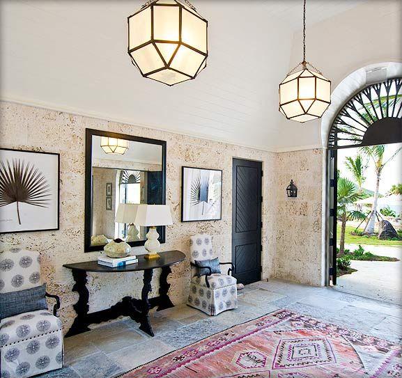 Gorgeous Island Style   Design by Allison Elebash  featuring Morris Hanging Lantern by Alexa Hampton