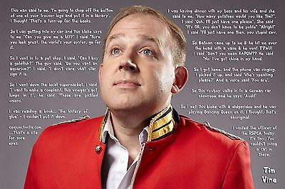 Tim vine poster print joke #montage comedian #funny one liner #comedy ,  View more on the LINK: 	http://www.zeppy.io/product/gb/2/112034023413/