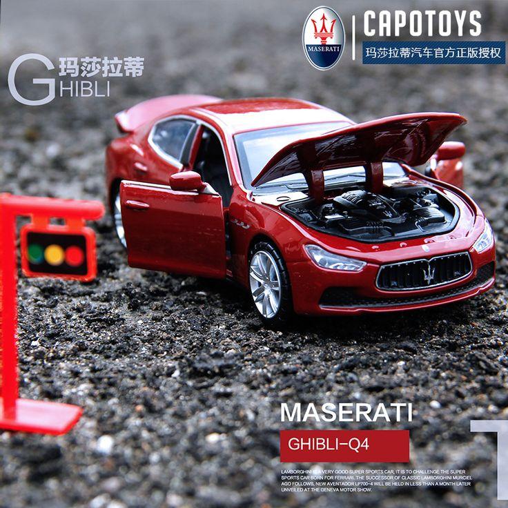 CAIPO Maserati Ghibli Modèles De Voitures 1:32 Alliage Pull Buck Moulé Sous Pression Modèle De Voiture Véhicules Jouets Enfant Cadeau d'anniversaire